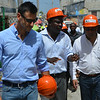 Ambassador Ramdin and PADF staff during the field visits on August 13, 2014, at Delmas 32 and Surtab