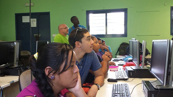 PADF holds GPS session at the University of Belize (UB), Belmopan campus. Present were UB GIS student, Dangriga Town Council, Hopkins Village Council and Ecumenical Junior College.