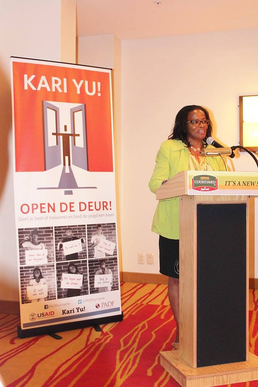 "Kari Yu! press conference to launch ""Open the Door"" media campaign. October 2, 2015"